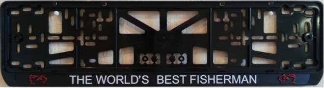 """Рамка на номер """"Лучший в мире рыболов"""""""